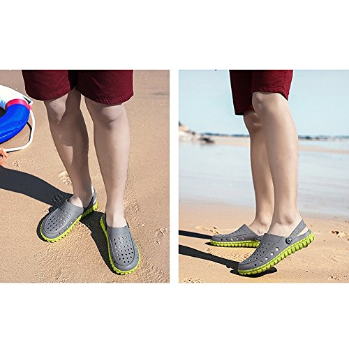 tempo per Sport Sandali Unisex Pantofole Sportivo il antiscivolo Pool Gray Doccia traspirante da adatto Green giardino Outdoor Beach Walking Zoccoli libero Estate wqgZTwF