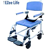 Attendant Shower Transport Chair Bath Toilet Commode Aluminum Adjustable
