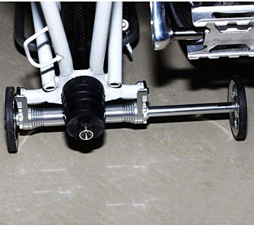 Metal Extension Rod Folding Bike Easy Wheel Rack Telescopic Bar Fit For Brompton