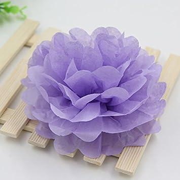 Purple color tissue paper Pom Poms handmade-wedding party birthday decorations