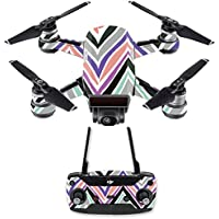 Skin for DJI Spark Mini Drone Combo - Colorful Chevron| MightySkins Protective, Durable, and Unique Vinyl Decal wrap cover | Easy To Apply, Remove, and Change Styles | Made in the USA