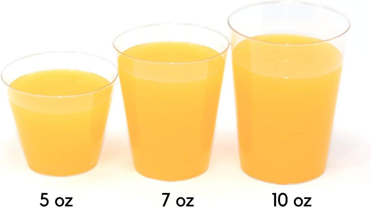 7oz Plástico Desechable Tazas tazas de agua potable clara Blanco 7oz Fiesta De Cumpleaños