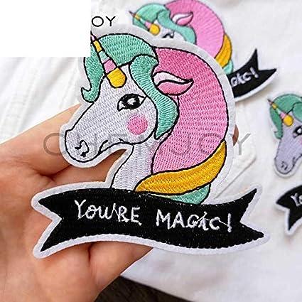 Amazon com: Cute Unicorn Embroidered Embroidery Needlework