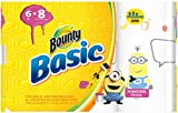 Bounty Basic Paper Towels, Minion Prints, Big Roll – 6 pk