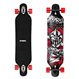 ENKEEO 41 Inch Drop-Through Longboard Skateboard Complete for Carving Downhill Cruising Freestyle Riding