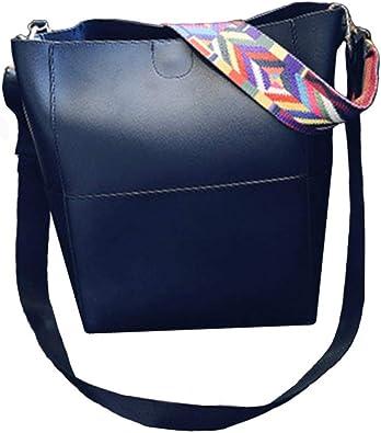 2017 Women Leather retro Shoulder Bag bucket messenger bag Handbag