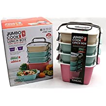 JUMBO 4 Stages Lunch Bag Bento Boxes Microwave Cookware Picnic Travel Food Storage Container