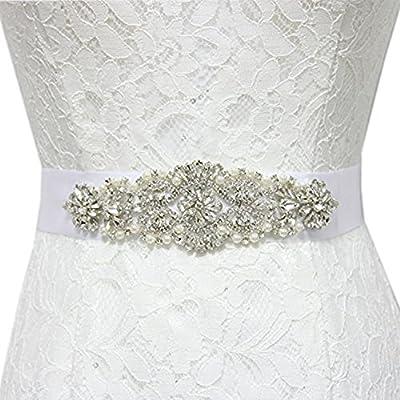 Trlyc New White/Ivory Bridal Wedding Dress Rhinestone Sash
