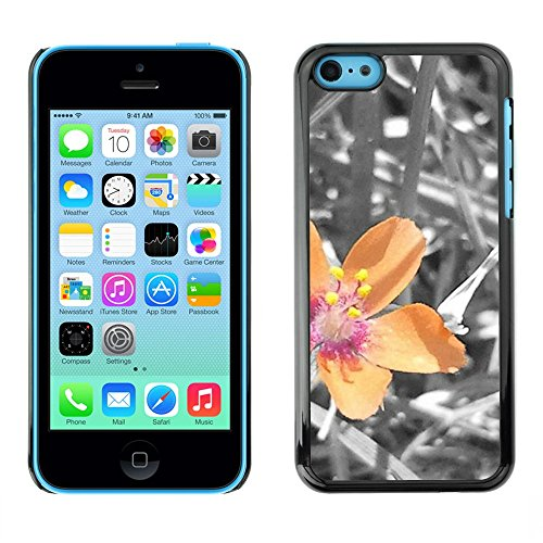 Soft Silicone Rubber Case Hard Cover Protective Accessory Compatible with Apple iPhone 5C - Plant Nature Forrest Flower 40