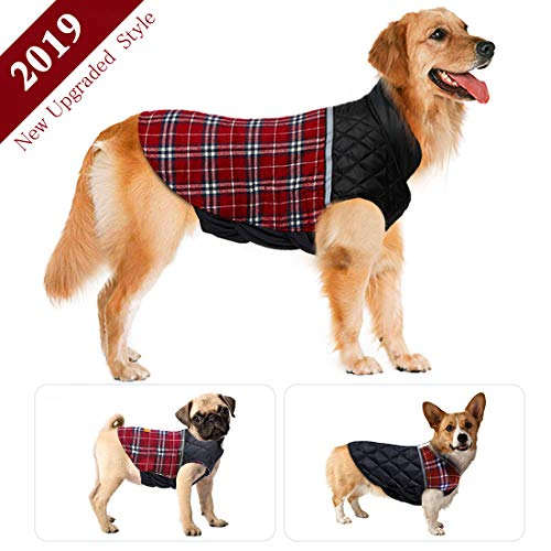 Dog Jacket Winter Dog Coat Warm Dog Sweater Waterproof Dog Clothes Reflective Dogs Apparel 2019 Dog Vest Reversible Dogs Cold Weather Coats for Small Medium Large Dog (S M L XL XXL) For Sale