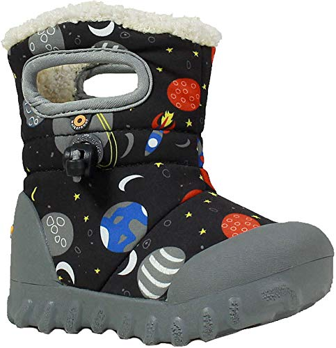 Waterproof Moc Toddler Space Multi Winter Bogs Insulated B Kids' Boot Print Black 7qtAH