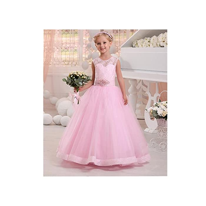 Wedding Flower Girl Dress Lace Communion Party Prom Princess Pageant Bridesmaid