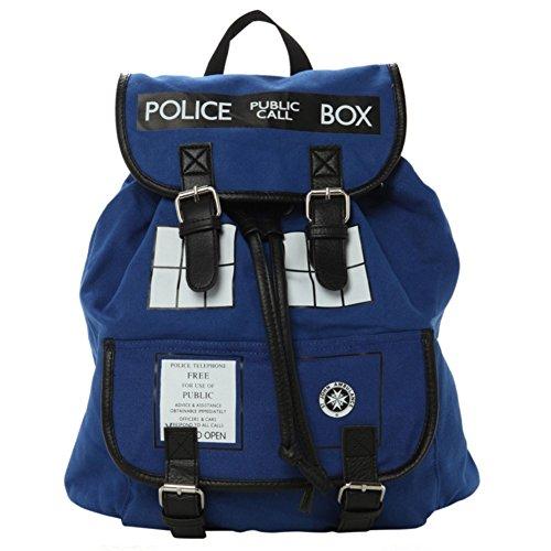 YOURNELO Unisex BBC Doctor Who Tardis Police Box Backpack Schoolbag Bookbag Rucksack (Police Box) ()