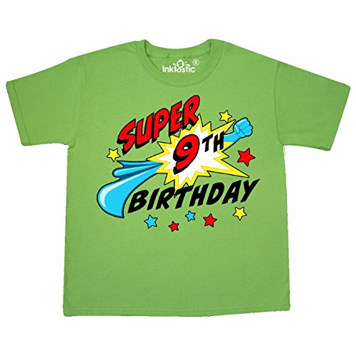 Inktastic Super 9th Birthday Youth T Shirt Medium 10 12
