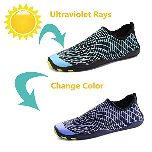 Tcife Männer Frauen Barfuß Wasser Aqua Schuhe Haut flexible Socken für Schwimmen, Wandern, Garten, Park, Fahren, Yoga, See, Strand Ändere Bule