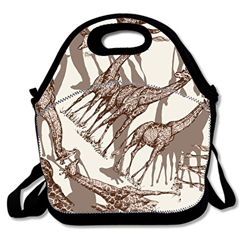 - Fashion Lunch Tote Animal Print Giraffe Lunch Box Insulated Thermal For Kids