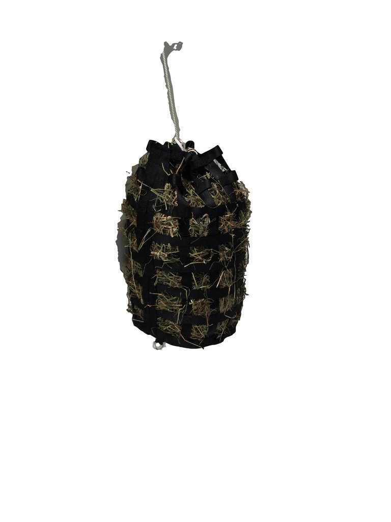 The Original NibbleNet Nibble-Go-Round Slow Feed Hay Bag w/ 2'' by Thin Air Canvas, Inc.