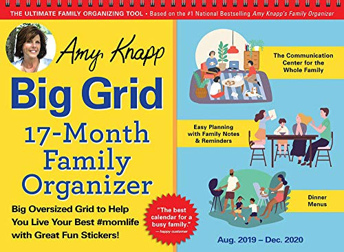 Pdf Parenting 2020 Amy Knapp's Big Grid Family Organizer Wall Calendar: August 2019-December 2020