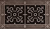 """Decorative Grille, Vent Cover, or Return Register. Made of Urethane Resin to fit over a 6''x12'' duct or opening. Total size of vent is 8""""x14''x3/8'', for wall and ceiling grilles (not for floor use)."""