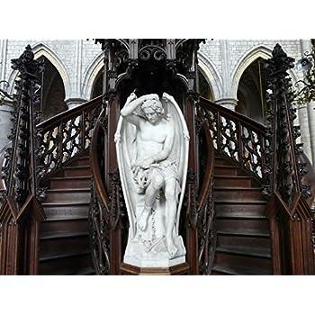 Le génie du mal or The Genius of Evil or The Lucifer of Liège Art POSTER