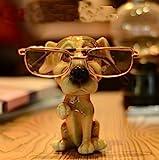 1PCs Cute Dog Animal Glasses Stand Resin Crafts Lovely Eyeglasses Sunglasses Stand Holder Rack Animal Home Decor Best Gift (1)