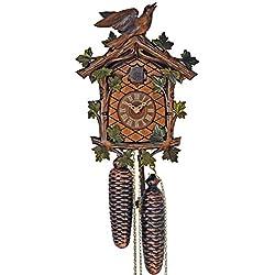 Cuckoo Clock - 8-Day with Green Leaves & Bird - Schneider