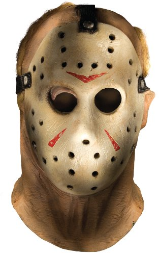 Rubie's Friday The 13th Jason Voorhees Overhead Mask, Gray, One Size]()