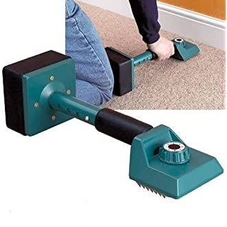 GHP Adjustable Carpet Installing Kicker Stretcher Tool with Two Replaceable Grip