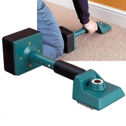 GHP Adjustable Carpet Installing Kicker Stretcher Tool with Two Replaceable Grip by Globe Warehouse