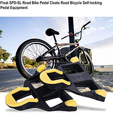 Equipamiento para Montar en Carretera Sairis Float SPD-SL autobloqueable Pedal de Bicicleta de Carretera para Bicicleta de Carretera Color Amarillo