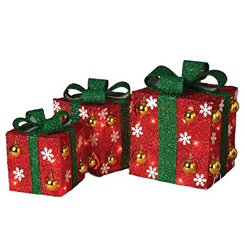 12 in. H Electric Red Gift Boxes by Home Accents Holiday