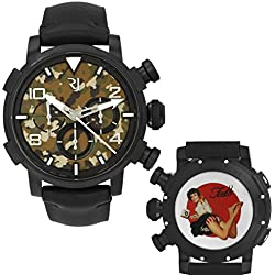 Romain Jerome Pinup DNA WWII Faith Barefoot Chrono Auto Men Watch RJ.P.CH.002.01