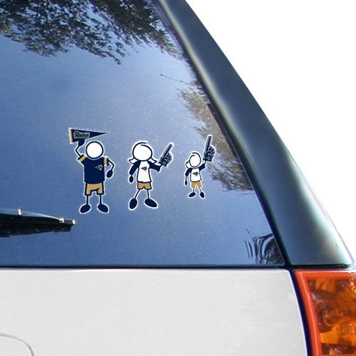 NFL St. Louis Rams 12'' x 12'' Family Car Decal Sheet