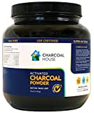 25oz GLASS jar Activated Charcoal Powder Detox 1600 USP Super Fine Coconut Shell or internal, external use
