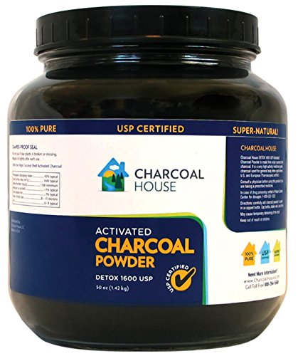25oz GLASS jar Activated Charcoal Powder Detox 1600 USP Super Fine Coconut Shell or internal, external use by Charcoal House