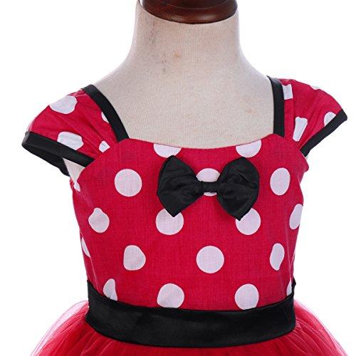 b24d8e2bc IWEMEK Toddler Girl Princess Polka Dots Christmas Birthday Costume Bowknot  Ballet Leotard Tutu Dress up+