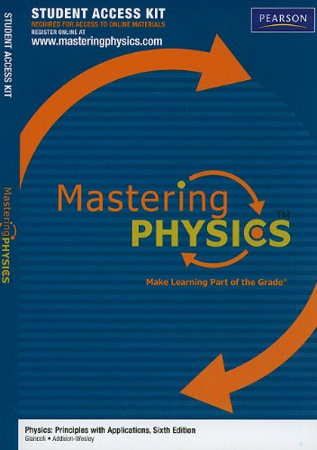 Physics Masteringphysics Student Access Kit: Principles With Applications (Mastering Physics (Access Codes))