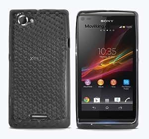 Fundas de Gel Silicona para Sony Xperia L C2104 C2105 S36H - Color Negro semitransparente