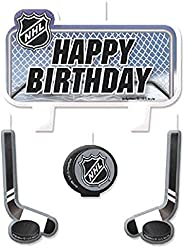 """Sports and Tailgating NHL Party NHL Ice Time! Birthday Candle Set Decoration, Wax, 2"""" x 3"""","""