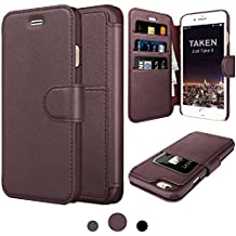 Taken Iphone 6 Leather Case - Iphone 6s Premium Leather Pu Wallet Cases ID Credit Card Slot Holder Phone Case Ultra Slim(Coffee)
