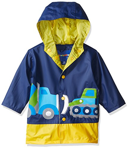 Baby Matte - Wippette Baby Boys Printed Raincoats, Workzone Navy-Matte, 12M