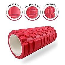 Dr. Health (TM) 13 Inch Deep Tissue Grid Yoga Fitness Massage Foam Roller Red