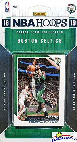 Boston Celtics 2018/2019 Panini Hoops NBA Basketball EXCLUSIVE Factory Sealed Limited Edition 9 Card Team Set with Kyrie Irving, Jayson Tatum, Gordon Hayward, Jaylen Brown & Many More! WOWZZER!