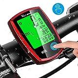 Wireless Bike Computer Speedometer, IPX6 Waterproof Bicycle Odometer, Auto Wakeup/Off Large LCD Screen