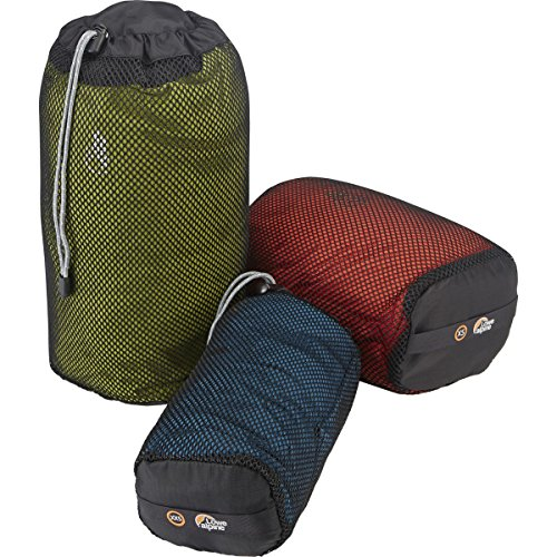Alpine Nylon Sleeping Bag (Lowe Alpine Mesh Stuffsack Multipack Black, XXS/XS/S)