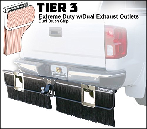 Towtector Tier 3 Mud Flap 27820-T3DE Extreme Duty Dual Brush Strip with Dual Exhaust Outlets - 78