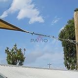 Patio Paradise Shade Sail Hardware Kit,34-Feet Wire