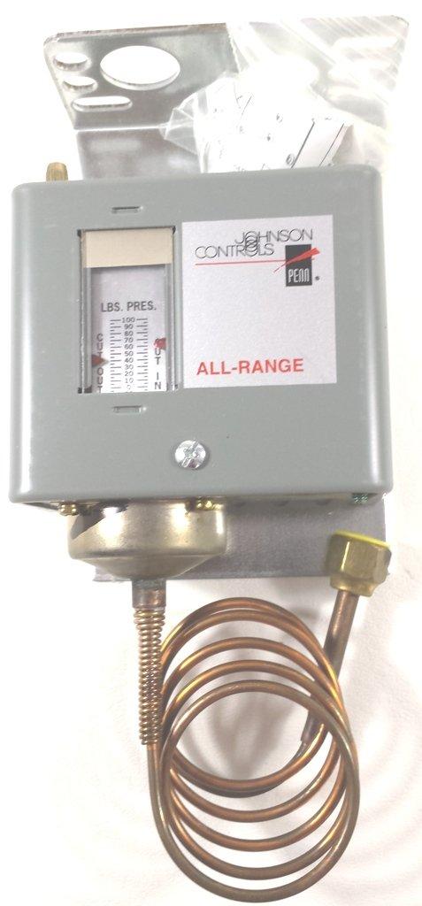 JOHNSON CONTROLS P70AB-2C 250V 20IN. HG. VAC 1N.C. LOW SIDE PRESSURE CONTROL