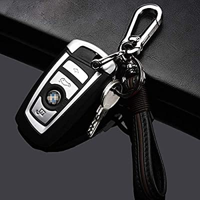QIAOBA Car Key Chain,Handmade Premium Leather Valet Keychain Detachable with Car Key Loop Ring Car Key Fob Chain for Men Women: Automotive