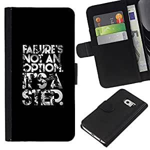 Stuss Case / Funda Carcasa PU de Cuero - No es un texto opción póster - Samsung Galaxy S6 EDGE